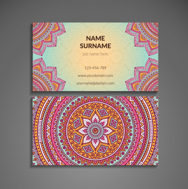 colorful business cards template