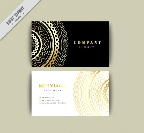 foil stamp business card