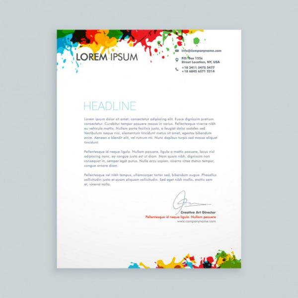 printed cheap letterheads