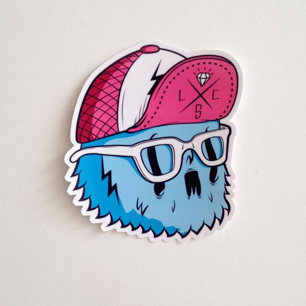 custom die cut sticker